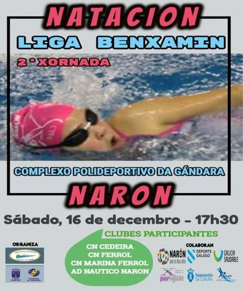 Ligas s bado 16 12 17 club nataci n ferrol for Piscina de naron